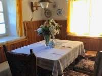 Obývací prostor - chalupa ubytování Jitrava