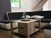 Obývací pokoj, pohovka - rekreační dům ubytování Polevsko