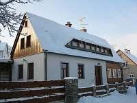zima 2013 - chata k pronajmutí Jiřetín pod Jedlovou