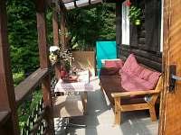 veranda - chata k pronájmu Jiřetín pod Jedlovou