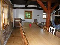 jídelní stoly ve společenské místnosti