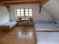 ložnice v podkroví s 5 lůžky