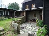 zastřešená terasa se zahradním nábytkem