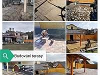 budování terasy - Sloup v Čechách