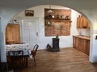 Kuchyně - chata ubytování Velká Černoc