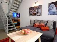 Obývací část a TV - rekreační dům k pronájmu Praha - Malá Strana
