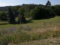 Pohled z terasy na jih - chata k pronájmu Nečín - Žebrák