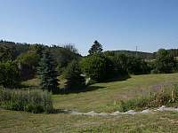 Západ pozemku - pronájem chaty Nečín - Žebrák