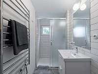 Koupelna se sprchovým koutem - pronájem chaty Dolní Břežany - Jarov