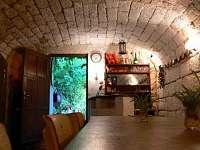 Vinný sklípek s domácím barem - pronájem chalupy Velká Černoc