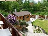 Výhled z terasy - chata k pronajmutí Skuheř