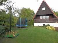 Chata Točná - ruské kuželky, dětská trampolína