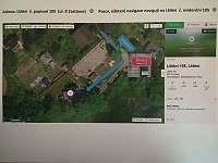 Vedeni -letecká mapa - pronájem chaty Lštění