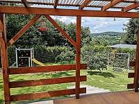Vedeni- pohled z terasy - chata ubytování Lštění