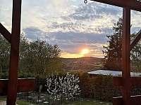 Vedeni- západ slunce z terasy - Lštění