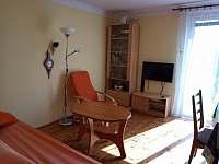 obývací část - chata ubytování Těptín