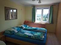 Spodní ložnice 2 + 1 až 2 dětské přistýlky - chata k pronájmu Těptín