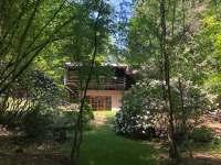 pohled z lesa - chata ubytování Masečín