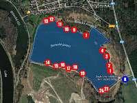 Rybaření na jezeře Borek - 5 min. autem - Lhota