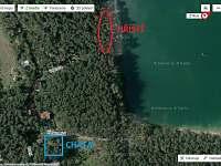 U jezera jsou 2 dětská hřiště, nejbližší je 200 m - pronájem chaty Lhota