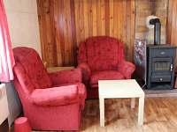 Posezení u krbových kamen v obývacím pokoji