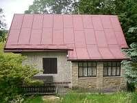 chata na samotě terasa, posezení