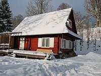 Chatička č.1 v zimě - k pronajmutí Olešnice v Orlických horách