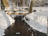 Zimní potůček, pro otužilce super! - pronájem chaty Olešnice v Orlických horách