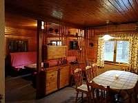 jídelna + společenská místnost - chata ubytování Vamberk - Peklo nad Zdobnicí