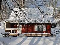 Chatička č.2 v zimě - pronájem Olešnice v Orlických horách