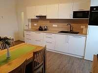 Kuchyně a jídelní stůl - apartmán k pronájmu Říčky v Orlických horách