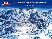 Mapa Ski centra Říčky - apartmán k pronájmu