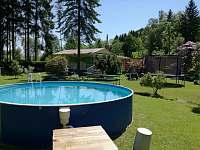 Chata Anička - pohled od bazénu - Přívrat