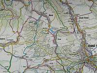 Mapa Přívratu a okolí -