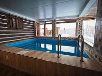 Vnitřní bazén - chalupa k pronajmutí Zdobnice v Orlických horách