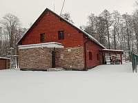 zima - chalupa ubytování Prostřední Lipka