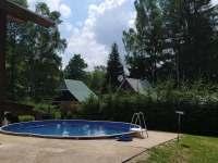 Bazén - chata ubytování Zdobnice