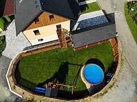letecký pohled zahrada - Šanov u Červené Vody