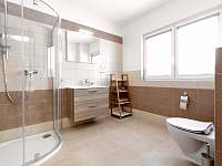 koupelna rodinného pokoje - pronájem chaty Červená Voda - Buková Hora