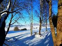 Chalupa Horní Orlice - kopce a sníh -