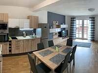 Obývací pokoj + kuchyňský kout, Apartmán Mařinka 201 - ubytování Říčky v Orlických horách