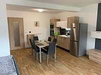 Obývací pokoj + kuchyňský kout, Apartmán Mařinka 201 - k pronájmu Říčky v Orlických horách