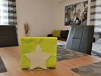 Obývací pokoj + kuchyňský kout, Apartmán Mařinka 201 - Říčky v Orlických horách
