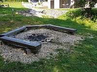 Zahrada - ohniště, Apartmán Mařinka 201 - Říčky v Orlických horách