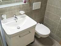 Apartmán 1+kk i 2+kk má samostatnou koupelnu se sprchovým koutem a wc. - Říčky v Orlických horách