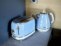 V každém apartmánu je vybavená kuchyň- rychlovarná konvice, toustovač. - Říčky v Orlických horách