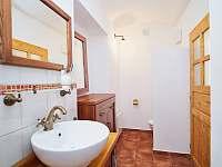 Nová stylová koupelna - chalupa k pronajmutí Osečnice