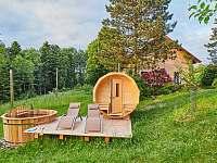 Sudová sauna a finská lázeň v naprostém soukromí - chalupa ubytování Osečnice