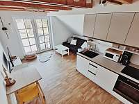 Apartmán v podkroví - plně vybavená kuchyně - k pronájmu Říčky v Orlických horách