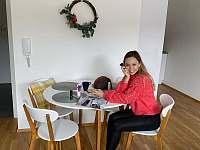 Obývací pokoj 1kk apartmán - pronájem Deštné v Orlických horách